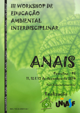 ANAIS DO III WORKSHOP DE EDUCAÇÃO AMBIENTAL