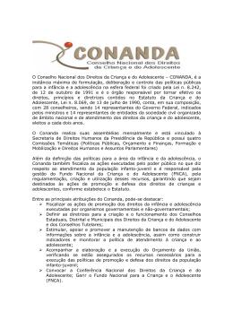 O que é o CONANDA