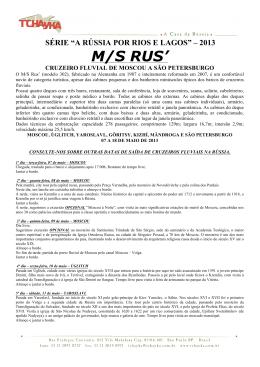 """série """"a rússia por rios e lagos"""" – 2013 m/s rus"""