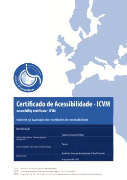 relatório da avaliação das condições de acessibilidade