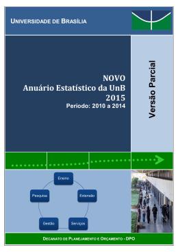 NOVO Anuário Estatístico da UnB 2015 Versão Parcial