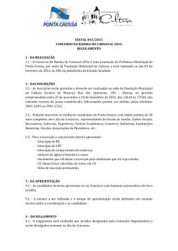 EDITAL 045/2015 CONCURSO DA RAINHA DO