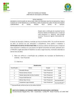 EDITAL 49.2014 - RETIFICAÇÃO DO RESULTADO