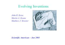 Programação Genética Evolving Machines