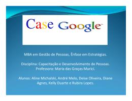 Estudo de caso (benchmark) - Google