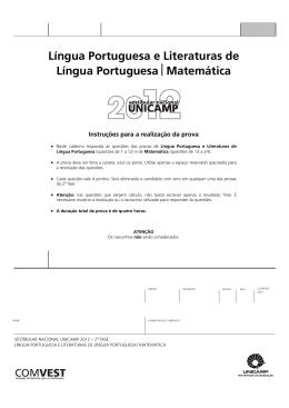 Língua Portuguesa e Literaturas de Língua Portuguesa