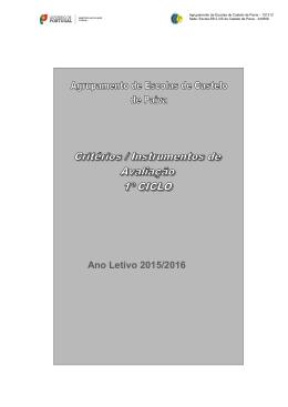 Critérios de avaliação 2015 -2016_1ºCEB