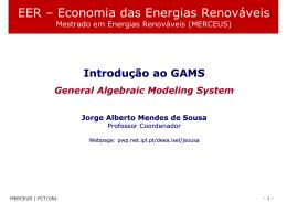 EER – Economia das Energias Renováveis