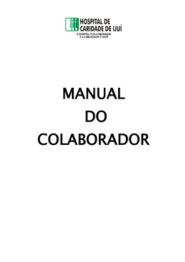 Manual do Colaborador - Hospital de Caridade de Ijuí