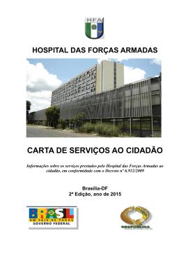 CARTA DE SERVIÇOS AO CIDADÃO - Hospital das Forças Armadas