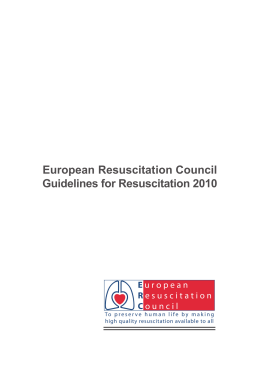 European Resuscitation Council Guidelines for Resuscitation 2010