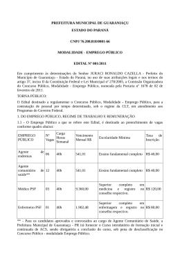 PREFEITURA MUNICIPAL DE GUARANIAÇU ESTADO DO