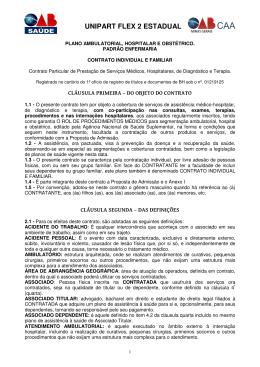 Contrato UNIPART Flex 2 Enfermaria