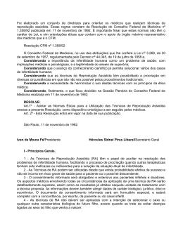 Resolução CFM 1358/1992