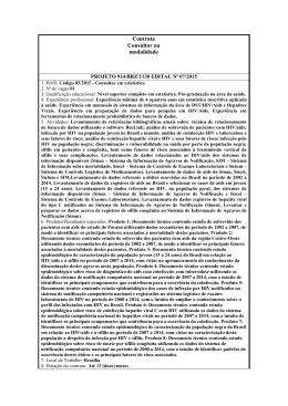Unesco - Edital - 072015 - Departamento de DST, Aids e