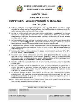 Prova - Concurso Público - SECRETARIA DE ESTADO DA SAÚDE