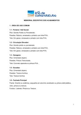 MEMORIAL DESCRITIVO - Francisco Rocha Imóveis