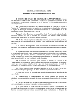Portaria CGU Nº 292-2010