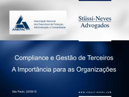 Compliance e Gestão de Terceiros A Importância para as
