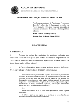 proposta de fiscalização e controle nº 91, de 1998