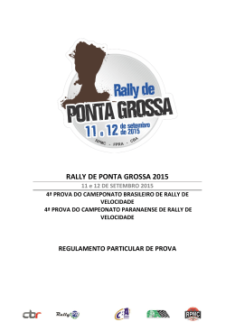 RALLY DE PONTA GROSSA 2015