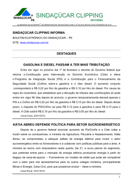 Sindaçúcar Clipping 02-2015