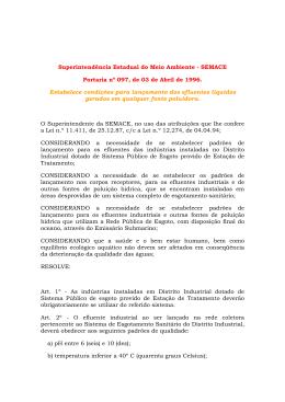 SUPERINTENDÊNCIA ESTADUAL DO MEIO AMBIENTE