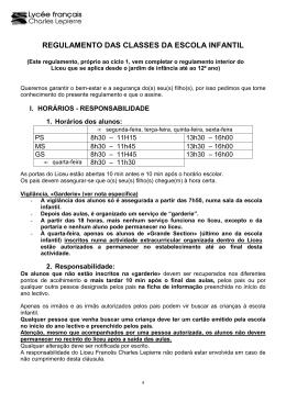 Regulamento interno da Ecole Maternelle