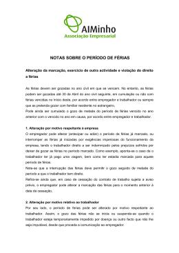 GOZO DO PERÍODO DE FÉRIAS