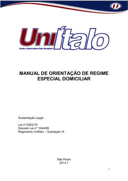 manual de orientação de regime especial domiciliar - italo