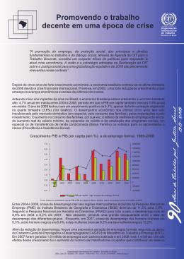 Leia nota da OIT sobre a crise - Organização Internacional do