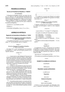 Decreto do Presidente da República n.º 99/2010