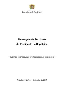 leia aqui a mensagem do presidente da república