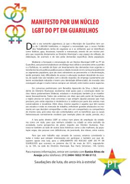 MANIFESTO POR UM NÚCLEO LGBT DO PT EM GUARULHOS