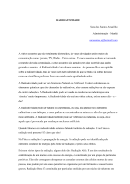 RADIOATIVIDADE Sara dos Santos Amarilho Administração