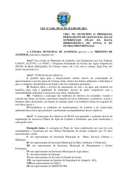 lei nº 3.681, de 01 de julho de 2013. cria no município o programa