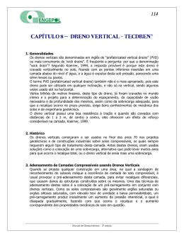 CAPÍTULO 8 – DRENO VERTICAL - TECDREN®