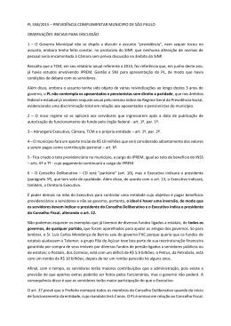 PL 558/2015 – PREVIDÊNCIA COMPLEMENTAR