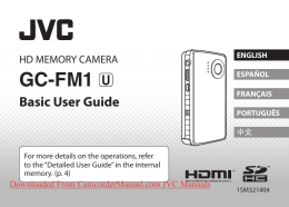 JVC Picsio GC-FM1 Camcorder User Guide Manual Operating