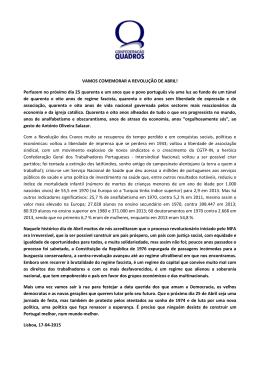 VAMOS COMEMORAR A REVOLUÇÃO DE ABRIL! - Conf
