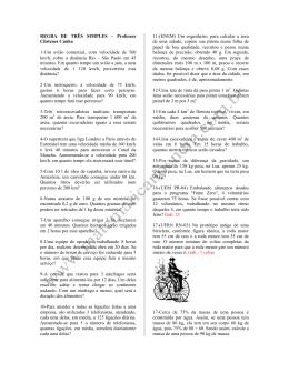REGRA DE TRÊS SIMPLES – Professor Clístenes Cunha 1