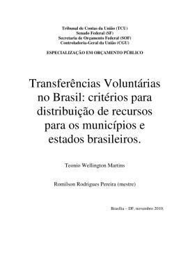 Transferências Voluntárias no Brasil