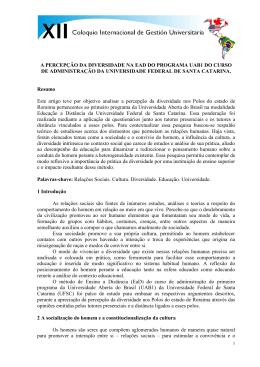 A PERCEPÇÃO DA DIVERSIDADE NA EAD DO PROGRAMA UAB1