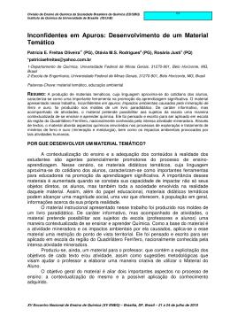 Trabalho - XV ENEQ - Universidade de Brasília