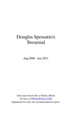 Douglas Spessatto`s Twournal