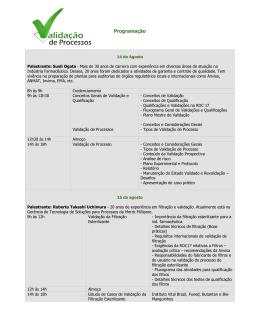 Programação - Instituto Vital Brazil