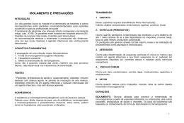 5. Manual de Isolamento e Precauções