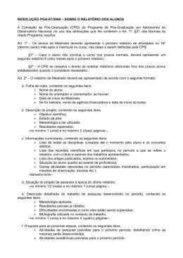 Resolução 07/2009 - Observatório Nacional