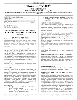 BioSentry X-185 Specimen Label