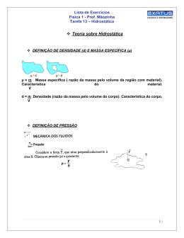 Teoria sobre Hidrostática